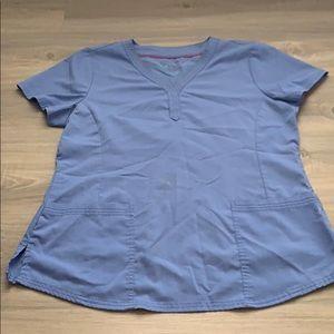 Purple lable healing hands womens scrub top